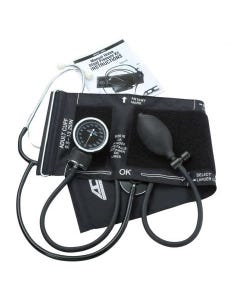 ADC Advantage 6005 Aneroid Blood Pressure Monitor with Stethoscope, Black, 6005-10737