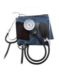 "ADC Prosphyg 790 Blood Pressure Monitor with Stethoscope, Large Adult (13.5"" to 19.5""), Navy N, 790-12XN-11074"