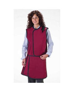Wolf X-Ray Women's X-Ray Apron / Vest Sets, Lightweight Lead with Thyroid Collar, Small-11541