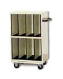 """Wolf X-Ray Corporation 80-038 Tall CR-Plate Cart with Eight 6"""" Wide Compartments"""