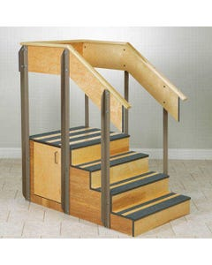 Clinton 4-8010 Physical Therapy Staircase with 2 Doors, 4-8010-12423