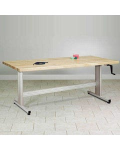 """Clinton Therapy Table with Hand Crank Height Adjustment, Standard, 72"""" x 36""""-12605"""