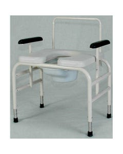 Gendron 5233 Adjustable Height Bariatric Bed Side Commode Chair