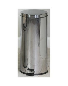 Clinton Round Stainless Steel Trash Cans