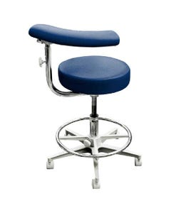 Brewer Design 2052 Dental Assistant Exam Stools, Stitched Upholstery, Left, with Backrest-21722