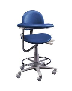 Brewer Design 3355 Classic Dental Assistant Stools, Seamless Upholstery, Left-21740