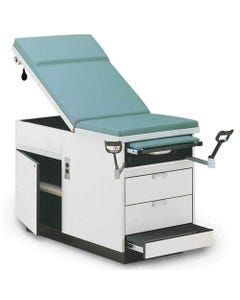Hausmann Cabinet Exam Table, Right Hand Drawers, with Duplex Outlet-23817