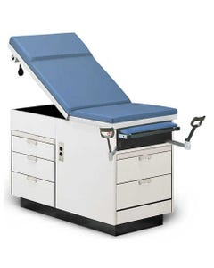 Hausmann Pneumatic Backrest Medical Exam Table, Right Hand Drawers, with Duplex Outlet