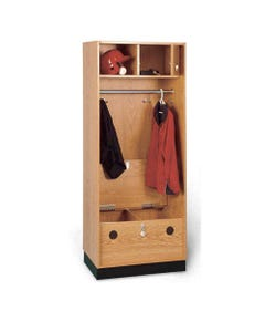 "Hausmann Storage Locker, Standard Seat with Clothes Rod | 32"" Width-24128"