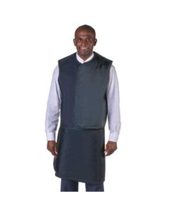 Wolf X-Ray Men's X-Ray Apron / Vest Sets, Lightweight Lead with Thyroid Collar, Small-24253