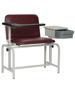 Winco 2574 Bariatric Blood Drawing Chair with Cabinet, Standard Colors-24435