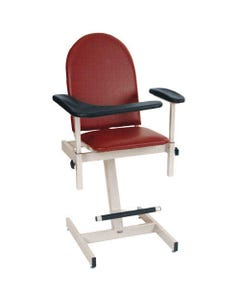Winco 2578 Adjustable Height Blood Drawing Chair, Standard Colors-24446