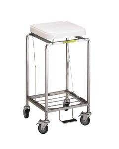 R&B Wire Deluxe Single Leakproof Hamper with Foot Pedal, Standard - White Lid