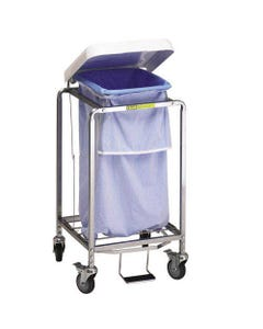 R&B Wire Deluxe Single Leakproof Hamper with Foot Pedal