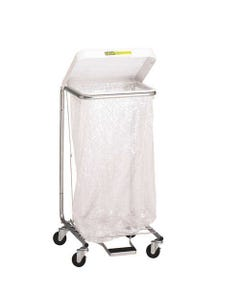"""R&B Wire Medium Duty Hamper with Foot Pedal, Colored - Single, 35""""-26186"""