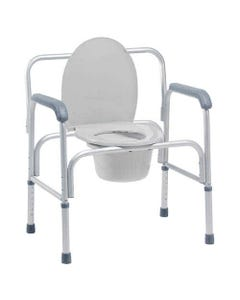 GF Health Products Lumex 2190A Bariatric 3-in-1 Aluminum Commode, 2190A-30686
