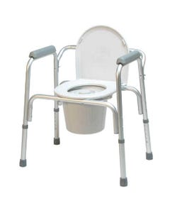 "GF Health Products Lumex 2195A Aluminum 3-in-1 Commode with Removable Backrest, 26"", 2195A-4-30687"