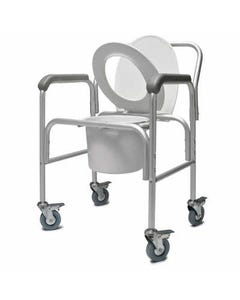 "GF Health Products Lumex 2215B Aluminum 3-in-1 Commode with Backrest, 20"", 2215B-2-30689"