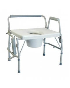 GF Health Products Lumex 6438A Imperial Collection Bariatric 3-in-1 Drop Arm Commode, 600 lbs, 6438A-31089