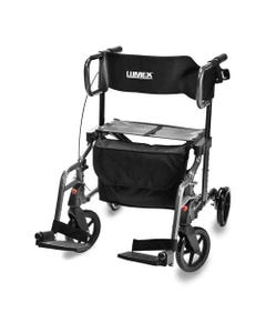 Lumex LX1000 Hybrid LX Rollator Transport Chair