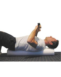 Cando White Open Cell Round Foam Rollers