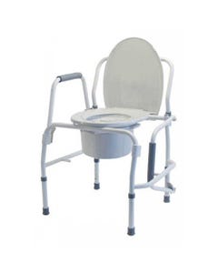 GF Health Products Lumex 6433A Silver 3-in-1 Steel Drop Arm Commodes, 6433A-2-36573