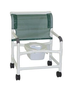 GF Health Products Lumex 89251 Bariatric PVC Shower Commode Chair with Sliding Footrest, 89251-36642