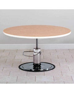 """Clinton 75-29H Round Laminate Hydraulic Table, 26.5 to 34""""-37001"""