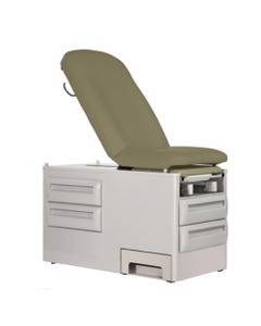 UMF Medical 5240-145 PROsidestep Manual Exam Table with Reversible Side Step Base and Fire Rated Top