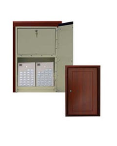 Harloff WL2780NARC-CM Wood Look Medication Cabinet with Narcotics Compartment, In-Wall Mount, Single Door, Single Lock
