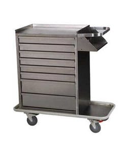 Harloff 6020K Stainless Steel Standard Locking Cast Cart, Key Lock, 6020K-38517