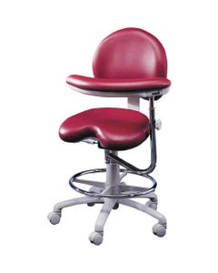 Brewer Design 9020 Dental Assistant Stool, Stitched Upholstery, Right Body Support
