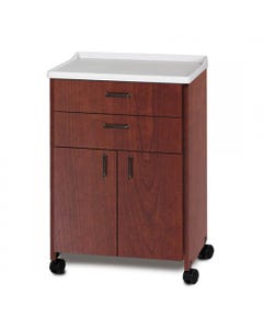 Clinton 8922 Mobile Treatment Cabinet with 2 Doors and 2 Drawers, Molded Top-44996