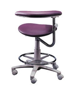 Brewer Design 3345 Classic Ergonomic Dental Assistant Stools, Stitched Upholstery, Left, with Backrest-45496