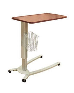 Novum Medical iSeries Low Base Overbed Tables, Laminate Surface