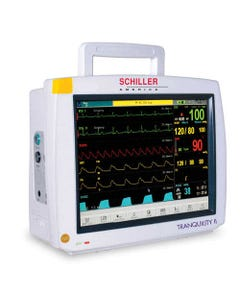 Schiller Tranquility II Touchscreen Patient Monitor with ETCO2, Gas Analyzer, with Printer