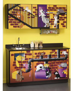 Clinton 6137 Pediatric Exam Room Cabinets, Alley Cats and Dogs