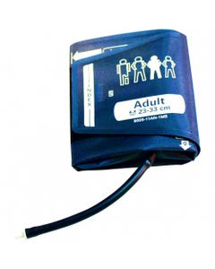 ADC 9005-11AN-1MB Adult Cuff with Bayonet Connector, 23 - 33 cm, Navy, Latex Free