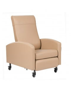 Winco Vero Multi-Position Fixed Arm Patient Recliners, Standard Upholstery, Standard Colors, Pedestal Feet