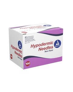 """Dynarex 6972 Hypodermic Needle, 25G, 5/8"""", 100/Box, Case of 10 Boxes - Discontinued"""