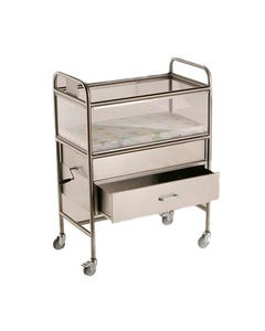 NK Medical 9000X17T Millennium Stainless Steel Bassinet, 9000X17T
