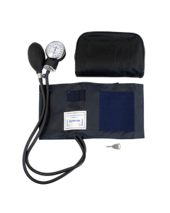 Dynarex 7108 Sphygmomanometer with Nylon Cuff and PVC Bladder and Bulb, Adult Large (Arm), Latex Free, Case of 10