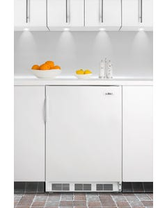 Summit Appliance FF7BI Built-In Refrigerator with Auto Defrost, White, 115V