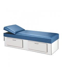 Clinton 3713 Cabinet Style Recovery Couch with 2 Drawers, Non-Adjustable Pillow Wedge-8519
