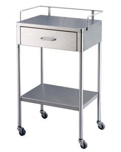 UMF Medical SS8153 Stainless Steel Utility Table with Drawer, SS8153