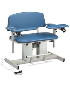 Clinton 6361/6362 Power Series Bariatric Blood Drawing Chair with Padded Arms