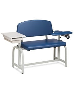Clinton 66002 Lab X Series Blood Drawing Chair with Padded Arms