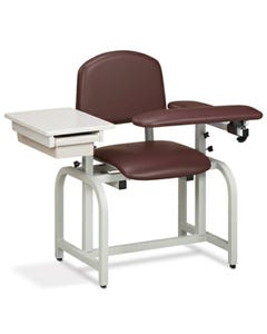 Clinton 66020 Lab X Series Blood Drawing Chair with Padded Flip Arm and Drawer