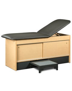 Clinton Step-Up Table with 2 Sliding Doors