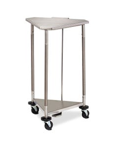 """Clinton HS-54 18"""" Stainless Steel Triangular Hamper with Lid"""
